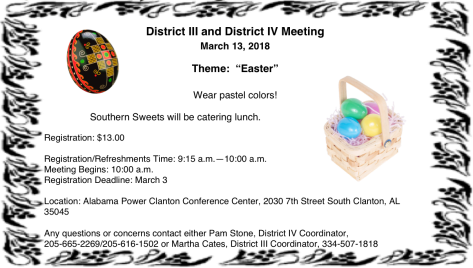 District 3-4 meeting