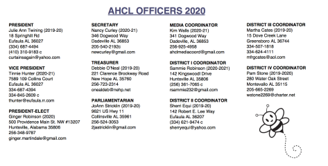 2020 officers update